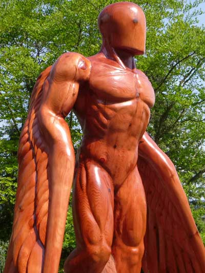 Ed Elliott sculpture, Greer, Guardian Angel, Wellingtonia, 10ft